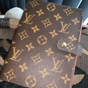 Louis Vuitton Monogram Agenda mm Authentic